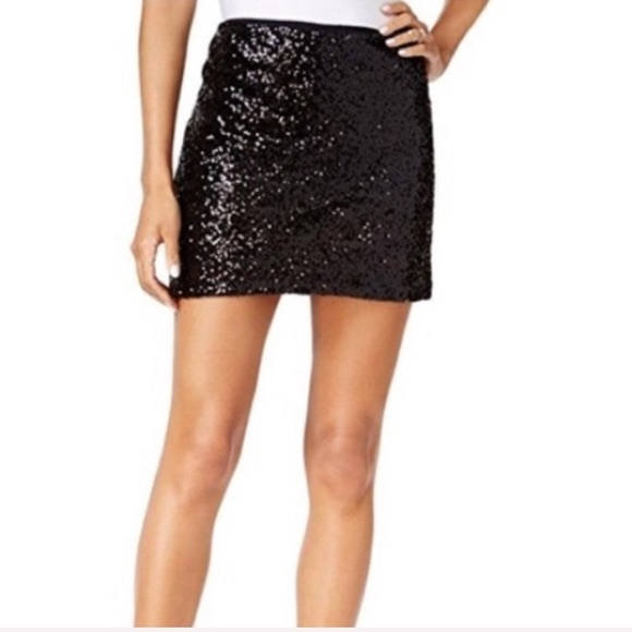 Black sparkly sequin skirt